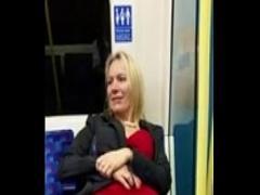 Nice romantic video category blonde (181 sec). blonde flashing pussy on London train.