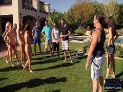 Best pornography category amateur (361 sec). Married couple tries swinging for the first time in an orgy.