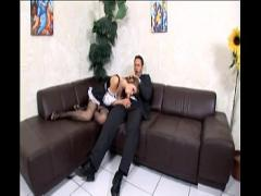 Full tube video category lingerie (400 sec). Maid threesome in uniform and fishnet stockings.