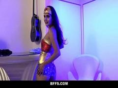 Best video list category cumshot (748 sec). BFFS - Super-Hero Cuties Tricked Into Fucking on Halloween.