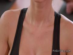 Sex amorous video category workout (391 sec). Tight blonde sucks coachs dick.