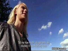 Sexy video category teen (316 sec). Public Dick Sucking For Cash from Czech Amateur Slut 24.