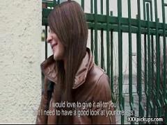 Super sexual video category teen (316 sec). Public Dick Sucking For Cash from Czech Amateur Slut 03.