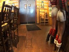 Best video link category ass (182 sec). Candid hot waitress perfect booty in tight cheeky shorts.
