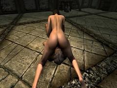 Good movie category big_ass (333 sec). Sensual sex in Skyrim with Lydia FHD, 60fps.