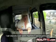 Best video category big_tits (420 sec). Real Spycam Sex: Busty British Blonde Barbie Roxx Has No Money To Pay Taxi Fare.