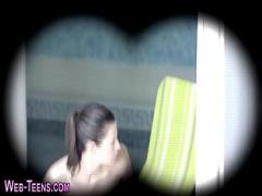 Download sexual video category lesbian (330 sec). Les watches teen rubbing.