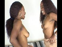 Free tube video category lesbian (778 sec). Two sexy black lesbians.